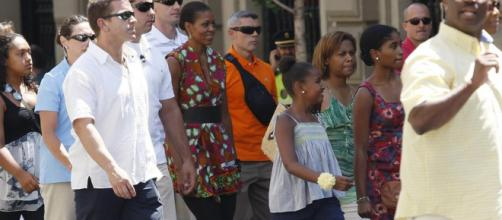Los paseos de Michelle Obama y sus hijas en Madrid