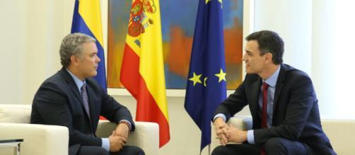 Iván Duque en su gira por España se reúne con Pedro Sánchez y el rey Felipe VI