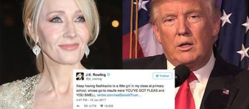 Trump se da ínfulas de escritor y J.K. Rowling se carcajea