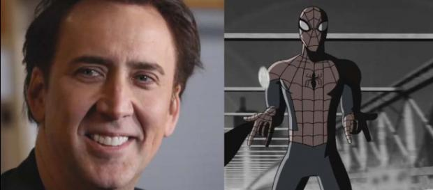 """Nicolas Cage will be the voice of a 1933-era Spider-Man Noir in """"Spider-Man: Into the Spider-Verse."""" [Image: ColliderVideos/YouTube]"""