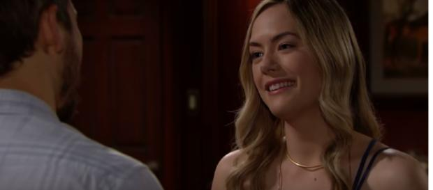 The love triangle heats up with Liam, Hope, and Steffy on 'B&B.' - [CBS / YouTube screencap]