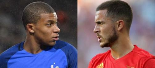 Kylian Mbappé ed Eden Hazard, tra i più attesi nella prima semifinale dei Mondiali 2018 tra Francia e Belgio