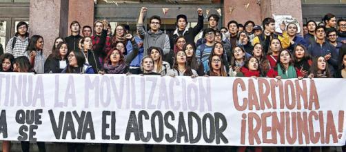 Continúa la toma feminista en la Facultad de Derecho de la Universidad de Chile