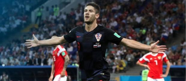 Andrej Kramarić helped tie things up for Croatia in their World Cup quarterfinals matchup with Russia. - [Fox Soccer / YouTube screencap]