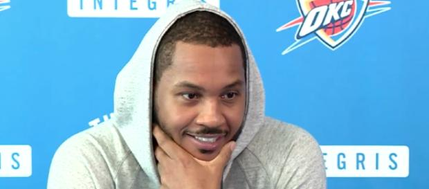 Carmelo Anthony is deciding on his next team with L.A., Miami, and Houston on the short list. - [ESPN / YouTube screencap]