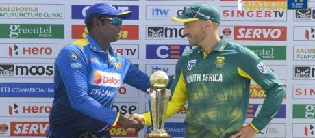 Sri Lanka vs South Africa (SL vs SA) 2ODI ODI live cricket ... (Image via SLC/Twitter)