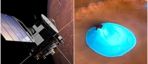 Científicos italianos descubren agua subterránea en Marte