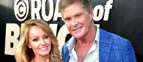 David Hasselhoff, 66, has married his 38-year-old Welsh girlfriend. [Image @DownTheWing_New/Twitter]