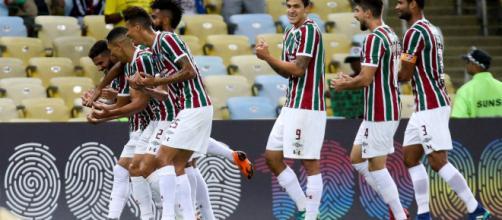 Fluminense deverá vir bastante ofensivo contra o Defensor pela Sul-Americana (Foto: Globoesporte)