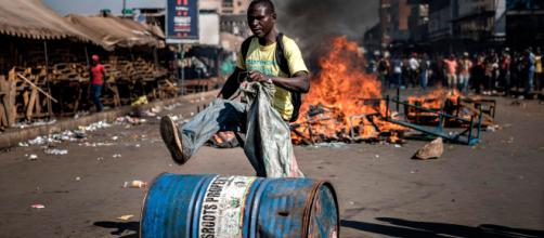 Manifestaciones tras resultados de las elecciones de Zimbabue