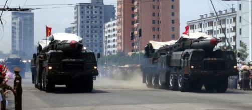 North Korea's ballistic missiles on display during parade. [Image courtesy – Stefan Krasowski, Wikimedia Commons]