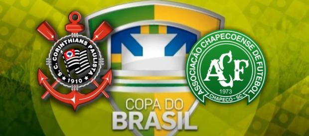 Corinthians e Chapecoense jogam hoje pela Copa do Brasil
