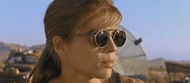 """The first photo has been released of Linda Hamilton reprising her """"Terminator"""" role. [Image John Maverick/YouTube]"""