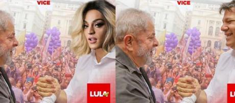Pabllo Vittar e Lula em montagem