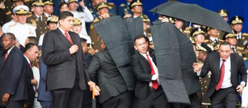 Imágenes de supuesto atentado a Maduro