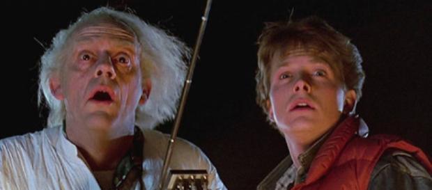 """Michael J. Fox e Christopher Lloyd in """"Ritorno al futuro"""""""