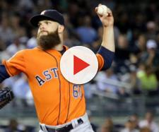 Dallas Keuchel won the AL Cy Young in 2015. [Image Source:apardavila/ Flickr]