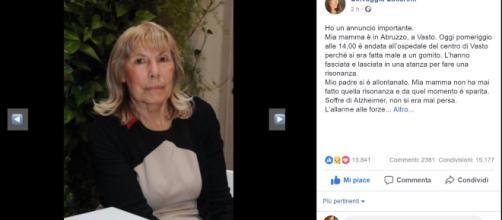 Lieto fine: trovata la mamma di Selvaggia Lucarelli scomparsa da ieri a Vasto.