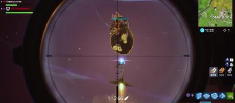 One of the recently discovered Guided Missile bugs in 'Fortnite.' - [5ive Stars / YouTube screencap]