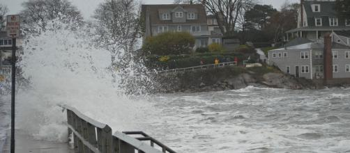 Flooding in Marblehead, Massachusetts, caused by Hurricane Sandy. [Image courtesy – The Birkes, Wikimedia Commons]