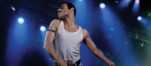 L'attore Rami Malek nei panni di Freddy Mercury in 'Bohemian Rhapsody'
