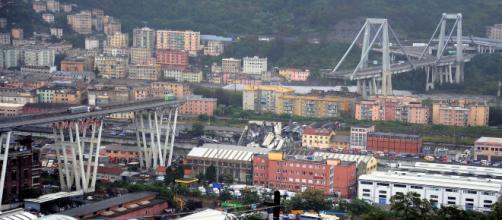 Puente derrumbado en Génova (Italia)