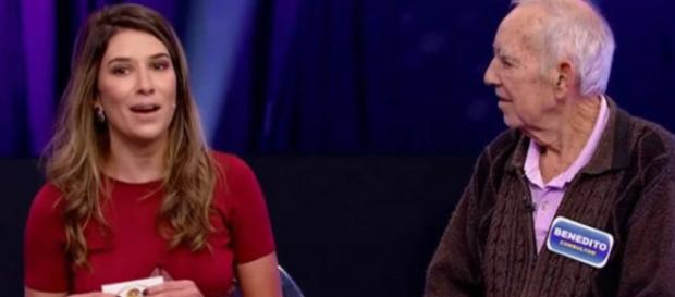Patrícia e Benedito, durante o programa Roda Roda