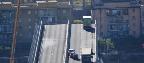 Tragedia en Génova: imagen del derrumbe