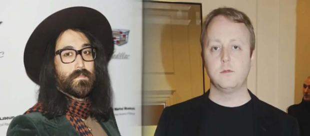 When Sean Ono Lennon and James McCartney posted a selfie to Instagram, the likeness to their fathers was amazing. [Image E! News/YouTube]