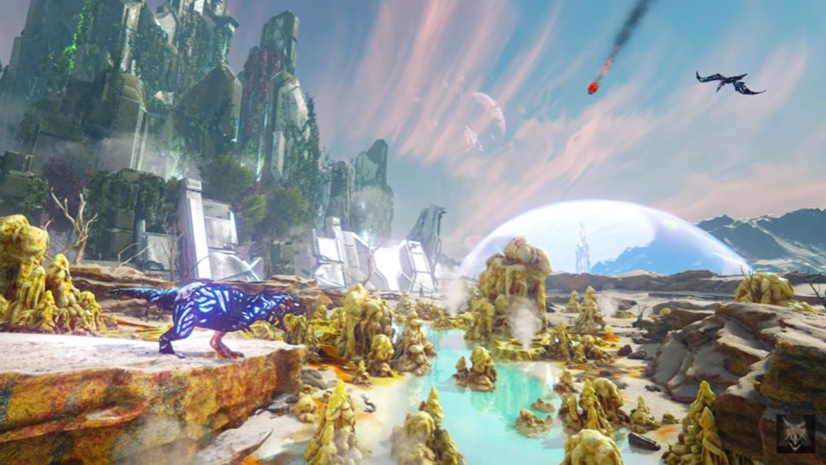 Ark Extinction Image Previews Released Hint At Corrupted Dinos