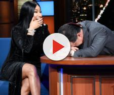 Nicki Minaj adds Stephen Colbert to Barbie Dreams on Late Show ... - (Image Credit: The Late show /Youtube)