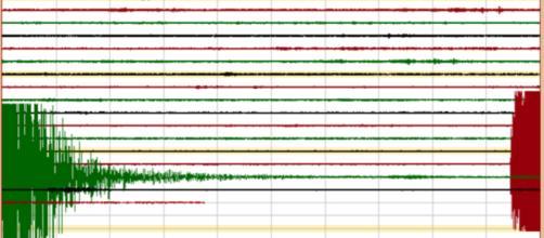 INGV-OV: sismogramma dell'Osservatorio Vesuviano per la scossa del 16/08