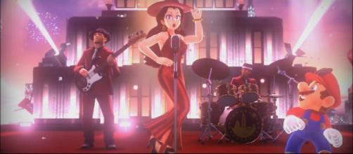 Pauline and Mario's reunion brings an unforgettable number. -[Nishman235/ YouTube screencap]