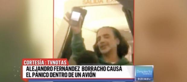 El cantante Alejandro Fernández fue expulsado de un avión por su estado de embriaguez