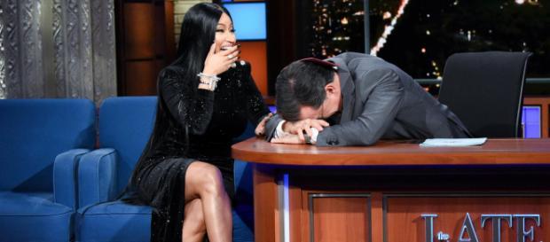 Nicki Minaj adds Stephen Colbert to Barbie Dreams on Late Show ... - (Image Credit: The Late show /Youtube)