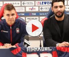 L'attaccante del Crotone, Luka Markovic