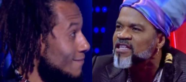 LC Negão e Carlinhos Brown no The Voice (Reprodução/TV Globo)