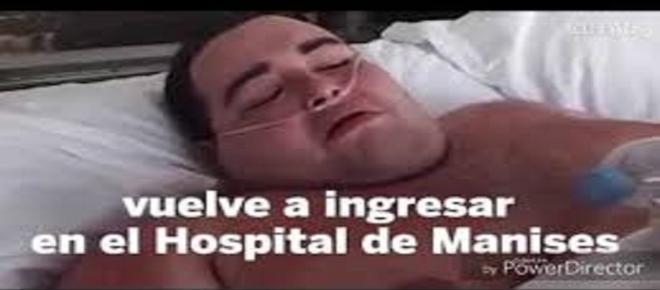 Teófilo Rodríguez, el hombre de 385 kilos, vuelve a ingresar en el Hospital de Manises
