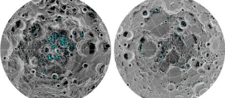 La NASA confirma la presencia de hielo en los polos de la Luna