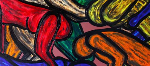 Francesco Ruspoli is known for creating colorful and highly-textured paintings. / Image via Francesco Ruspoli, used with permission.