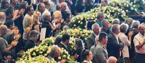 I funerali di Genova per le vittime di Ponte Morandi