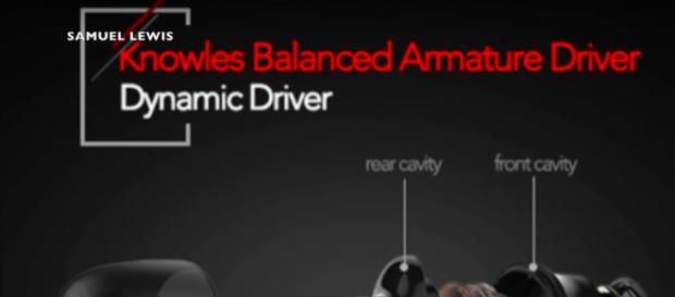 ACIL H1 Dual Drivers Bluetooth Earphones. [Image Source: SamuelLewis - YouTube]