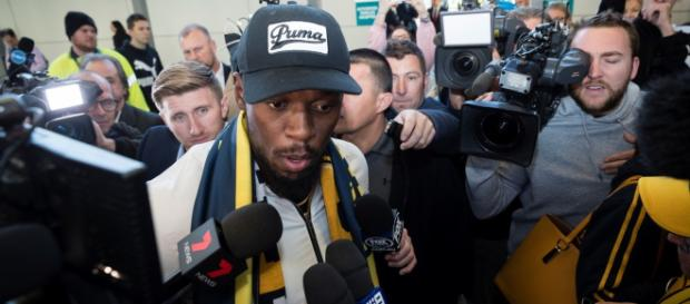 Usain Bolt arrives in Sydney to pursue his football dream | (Image via Sky.com/Youtube)