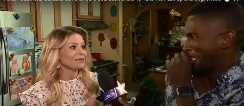 Candace Cameron Bure is excited about the 'Fuller House' Emmy nomination and the menstrual cup. - [Access / YouTube screencap]