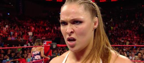 Former UFC champion Ronda Rousey is looking to capture her first WWE title at Sunday's 'SummerSlam' PPV. - [WWE / YouTube screencap]