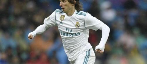 Luka Modric au cours d'un match du Réal Madrid