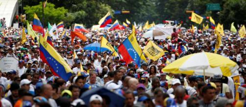 Protesta de la oposición venezolana en Caracas