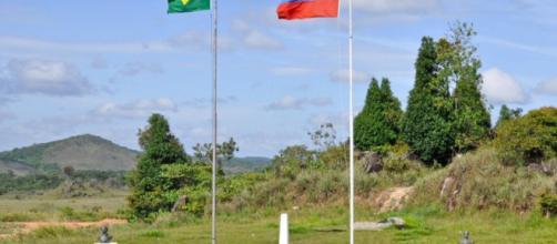 Punto fronterizo entre Venezuela y Brasil