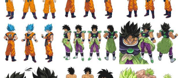 Los diseños de Shintani para la nueva película de Dragon Ball Super.