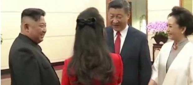 Kim Jong Un meets with China's Xi Jinping for third time. [Image courtesy – CBS, YouTube video]